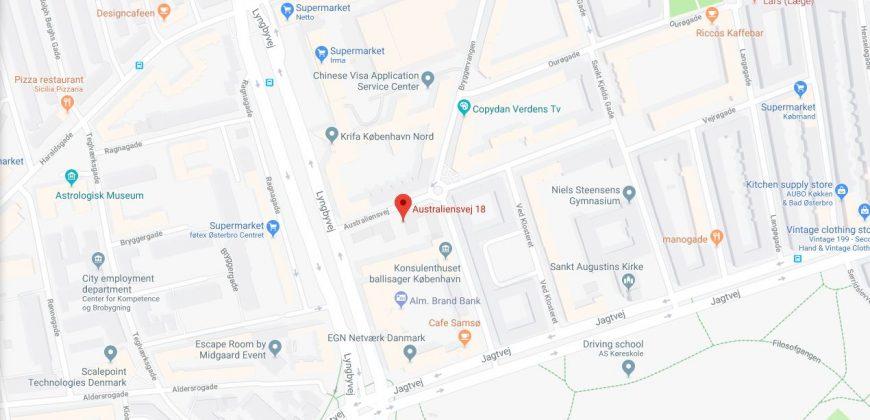1313 – To-værelses møbleret lejlighed på Østerbro til genhusning